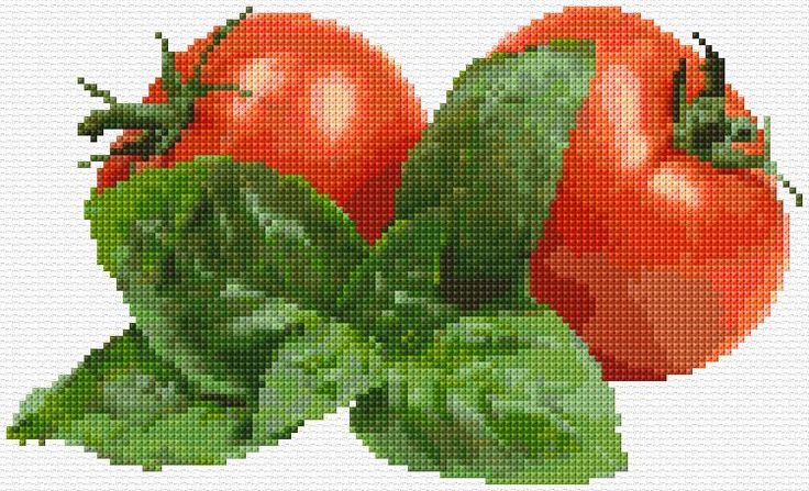 Cross Stitch | Tomatoes xstitch Chart | Design