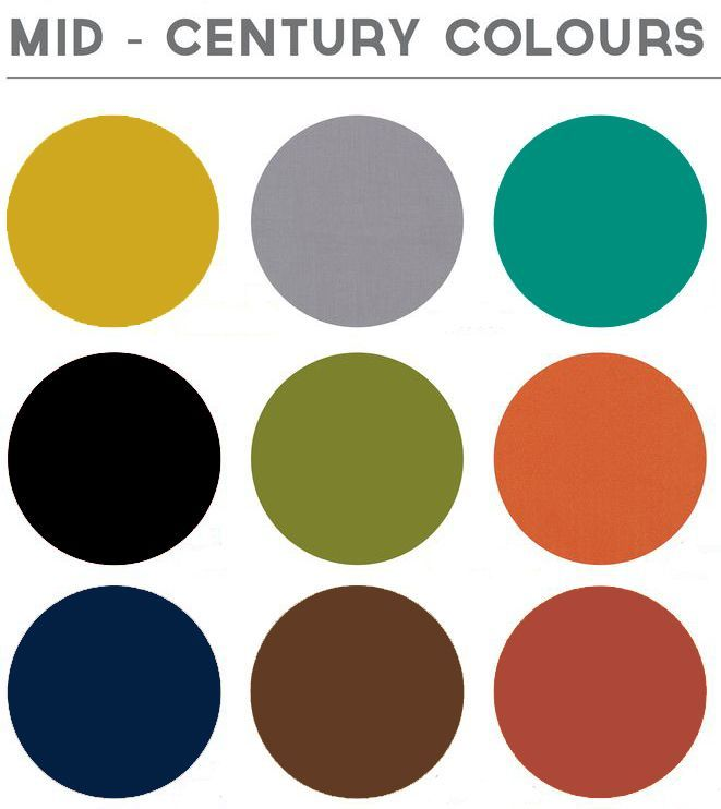 my mid century modern colors. Repinned by Secret Design Studio, Melbourne. www.secretdesignstudio.com #shadesofpaintcolours