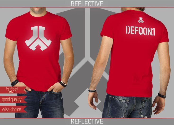 HARDCORE HARDSTYLE FESTIVALS T-shirt RED + REFLECTIVE Size: S - XXL (DF334) #SOLS #HARDCOREHARDSTYLEFESTIVALS