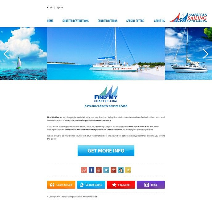 Sailboat Charter Company looking for redesign (exotic travel!) by mr.antough