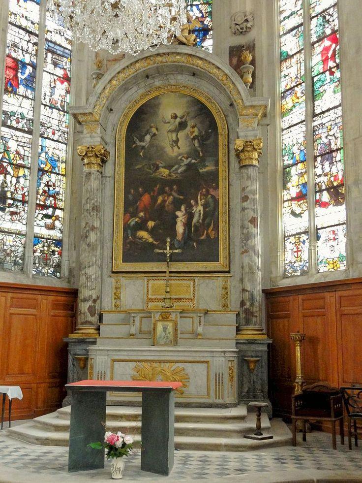 Écouen (95), église Saint-Acceul, retable du maître-autel - Église Saint-Acceul d'Écouen — Wikipédia