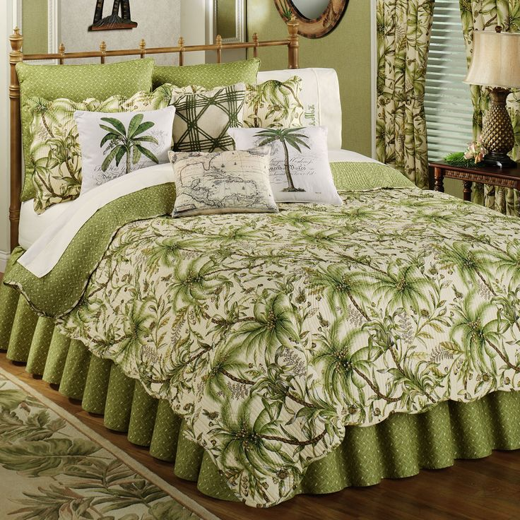 palm tree quilts for beds   Barbados Sand Quilt Bedding