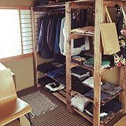 My Shelf,自作棚,1×4で作る家具,セリアのアイアンバー,ブライワックス ジャコビアン,オープンクローゼット風に関連する他の写真