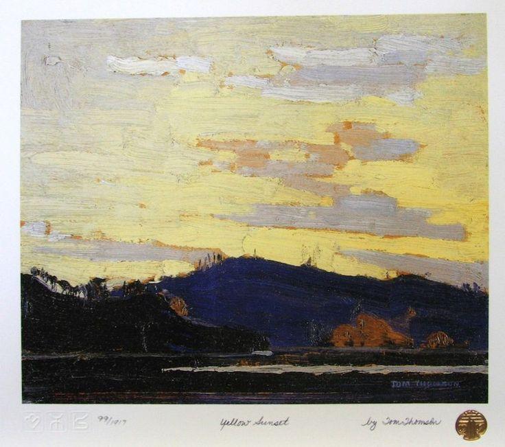 Tom Thomson Yellow Sunset