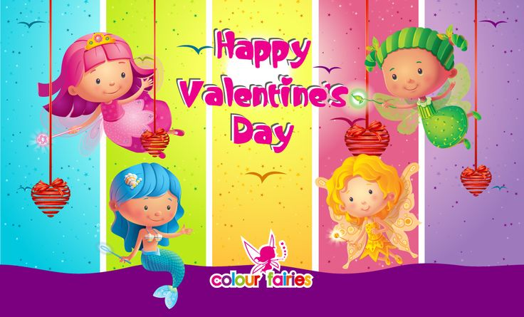 Wish you a very fairy valentine's day! ~ Colour Fairies