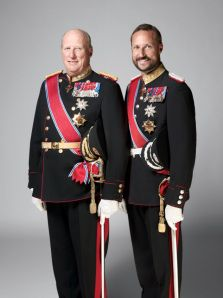 """On Wednesday, October 16, 2013, His Majesty King Harald V of Norway accompanied by His Royal Highness Crown Prince Haakon of Norway met with the """"…newly appointed government…"""" at the royal palace in Oslo."""