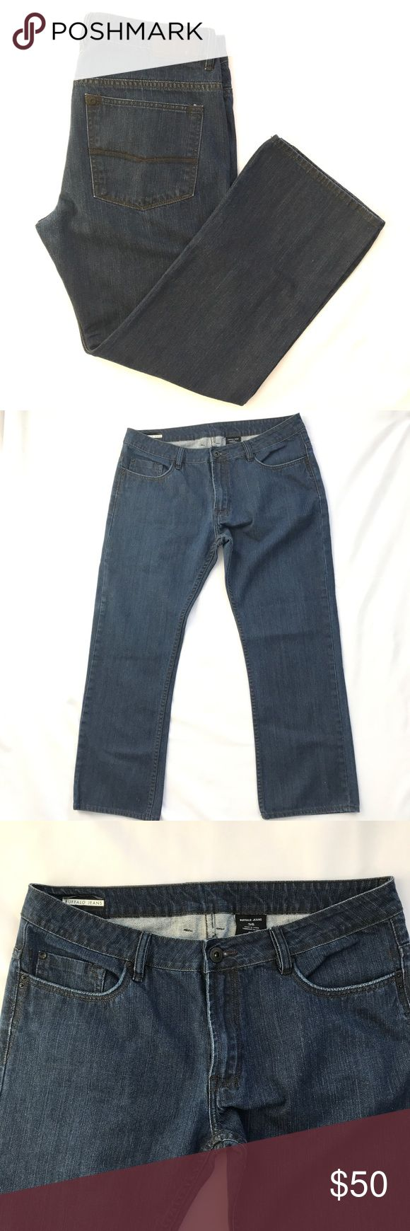 Buffalo Jeans Straight Leg Dark Wash Sz 36 Men's Buffalo Jeans in a dark wash with Straight Leg  Size 36  Inseam measurements to come! Buffalo Jeans Straight