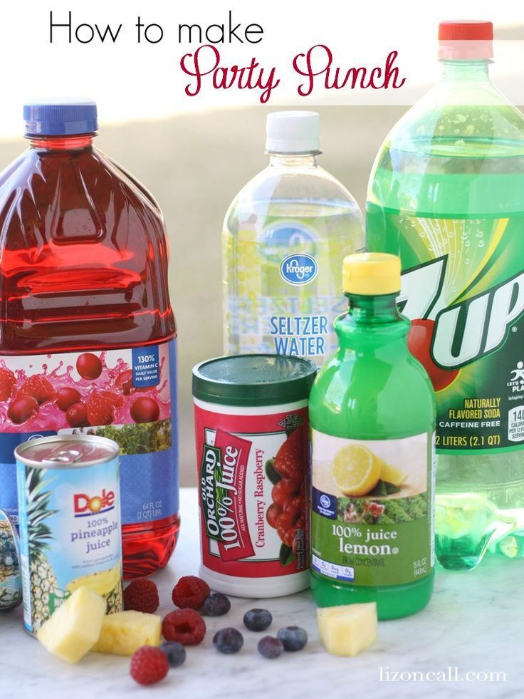 159 best drink up images on pinterest party punches st for Easy alcoholic party drinks