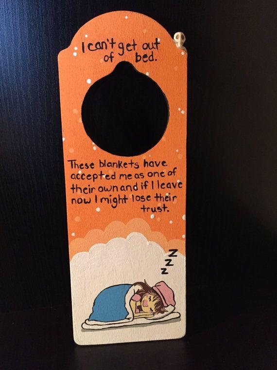 Trust. Wooden Door Knob Hanger. by OTrebellDesigns on Etsy