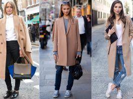 С чем носить женское бежевое пальто, фото и стильные советы