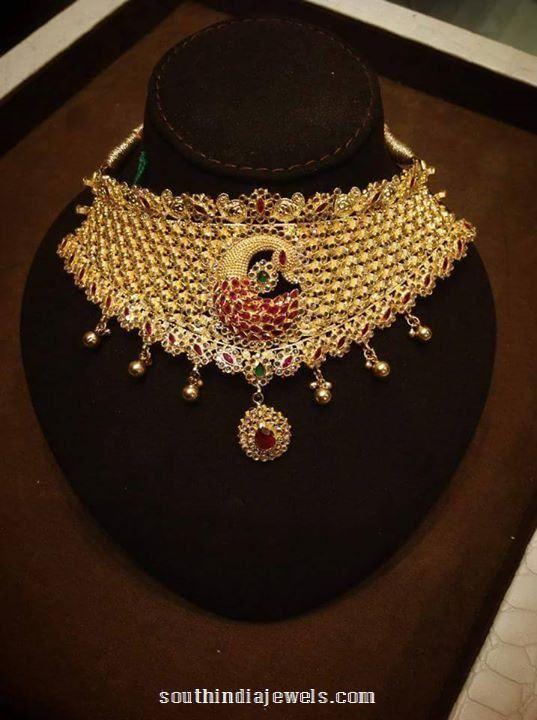 22 Carat gold Ruby Choker Necklace