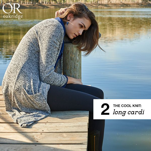 THE WINTER EDIT: The long cardi  Crisp afternoons call for a super-soft layer you can easily wear with your wardrobe favourites.  Shop this look in-store and online now: http://www.mrp.com/jump/lookbooks/Oakridge-AW15/category/cat1530015?p=3&utm_source=Pinterest&utm_medium=post&utm_campaign=01_2015wk13_l_or_AW15_WinterEdit&utm_source=Pinterest&utm_medium=post&utm_campaign=01_2015wk13_l_or_AW15_WinterEdit
