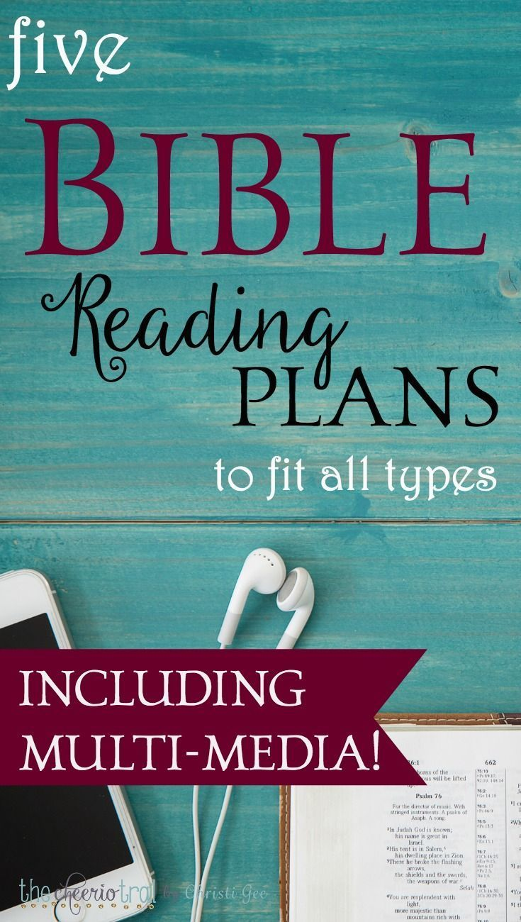 These Bible reading plans offer multi-media options, through the year Bible printable plans, chronological one-year Scripture reading schedules, videos, podcasts, apps, and even a real paper Bible arranged chronologically. via /ChristiLGee/