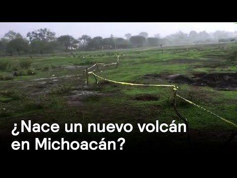 Nace un nuevo volcán en MIchoacán - Naturaleza - En Punto con Denise Maerker - YouTubeВ мексиканском штате Мичоакан раскалилась земля, появились трещины и пар