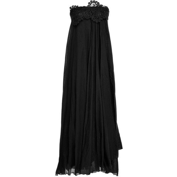 Lila Eugenie  Sun Lace Midi Dress ($340) ❤ liked on Polyvore featuring dresses, black, mid calf lace dress, empire waist dresses, lacy dress, midi dress and sleeveless lace dress