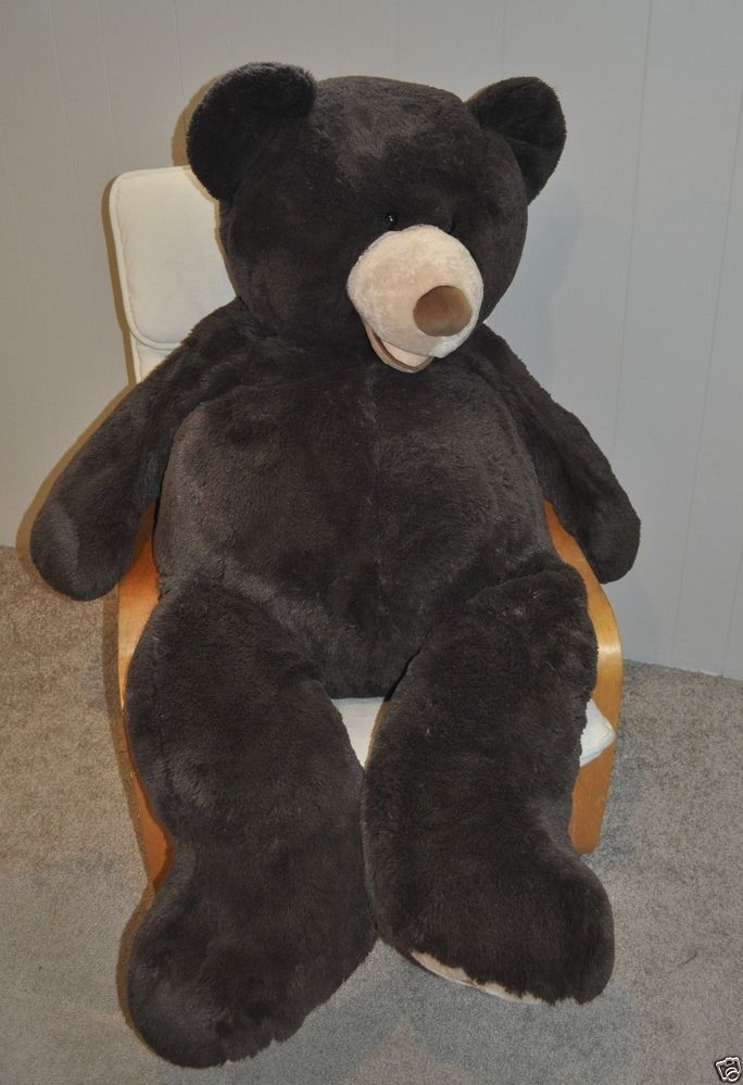 """This would be so fun in a kid's bedroom. You wouldn't need a chair, just a big ol' bear to lounge on!   Hugfun Giant Chocolate Brown Huge Teddy Bear Plush 53"""" Soft Life Size Jumbo Toy"""