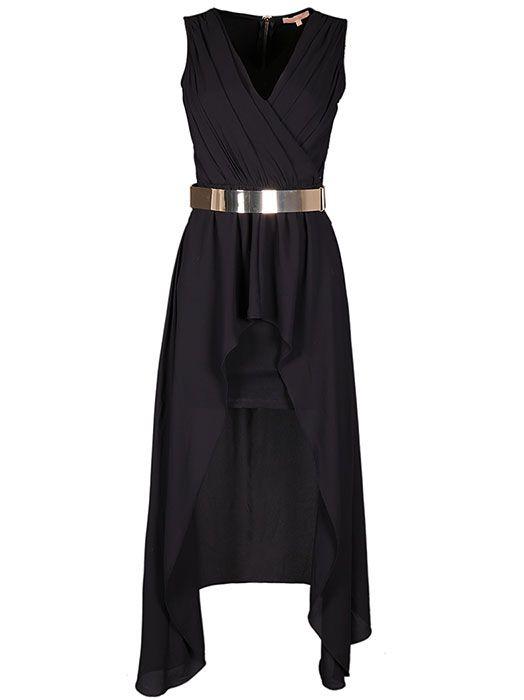 Ασύμμετρο φόρεμα με δαντέλα