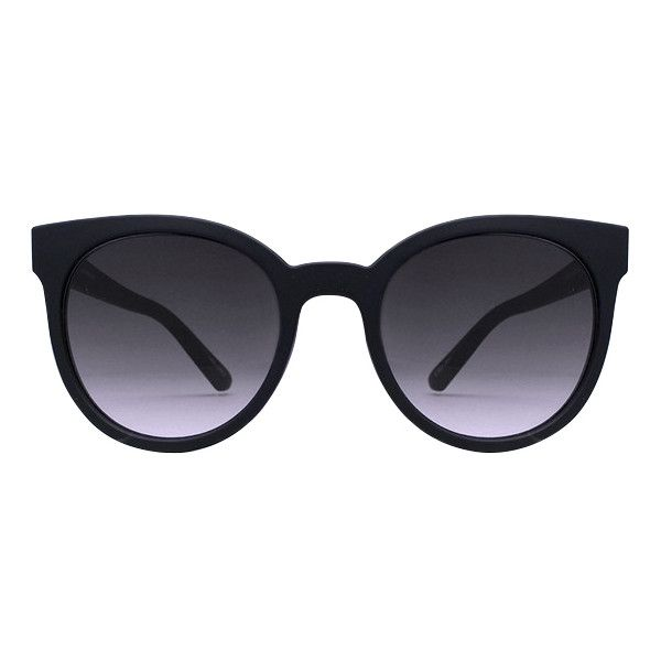 Quay Australia Quay Like Wow Sunglasses Black (59 CAD) ❤ liked on Polyvore featuring accessories, eyewear, sunglasses, black, quay eyewear and quay sunglasses