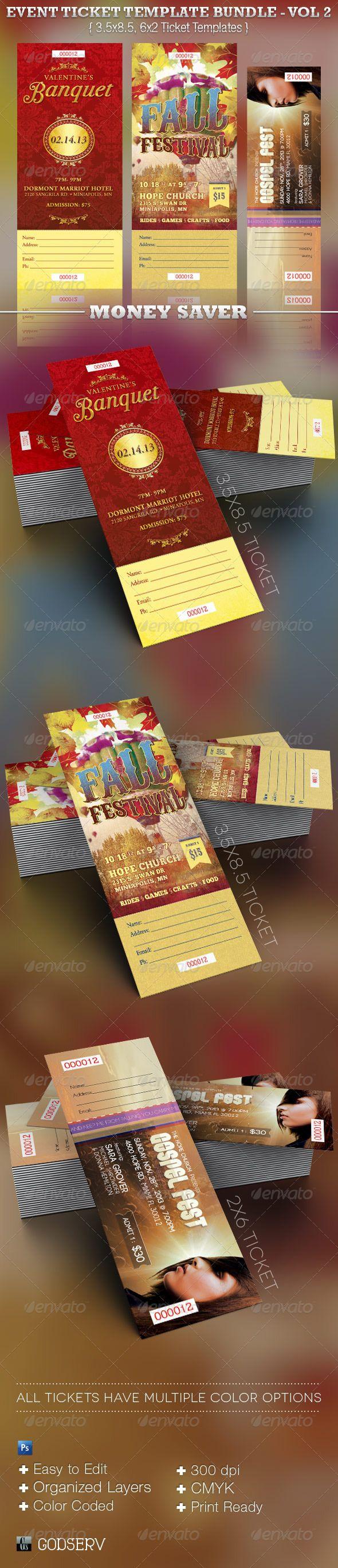 Event Ticket Template Bundle - Volume 2 - $11.00