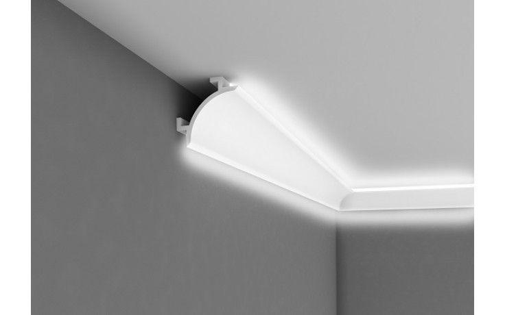 """Lichtleiste """"QL001"""" - Stuckleiste für indirekte Beleuchtung (aus hochfestem Polyurethan) inkl. Reflexionsklebeband"""