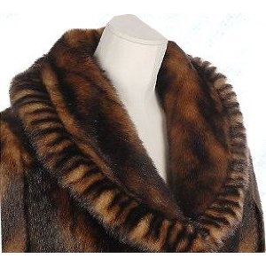 Dennis Basso 3/4 Length Faux Mink Coat with Pleated Trim Retail $171 Plus Size (Apparel) http://www.amazon.com/dp/B0011246HO/?tag=mnnean-20 B0011246HO