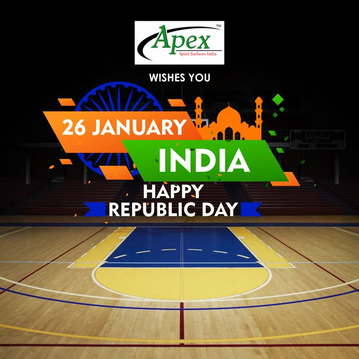Let the colours of the Indian flag soar high this republic day, good wishes from Apex sports. #26january #India #republicday2018 #apexsportsurfaces