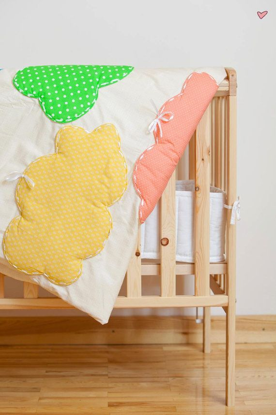 This gorgeous bedding set includes:  1 duvet cover and 1 pillowcase (custom size).  Bedding set is made from highest quality cotton (100 %), so is perfect even for allergic kids. Bedding is crafted by hand. This is why it is unique and full of love!  Sleep tight!