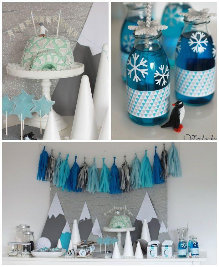 Arctic Penguin themed birthday party with so many fabulous ideas via Kara's Party Ideas via kara's party ideas! full of decorating ideas, de...
