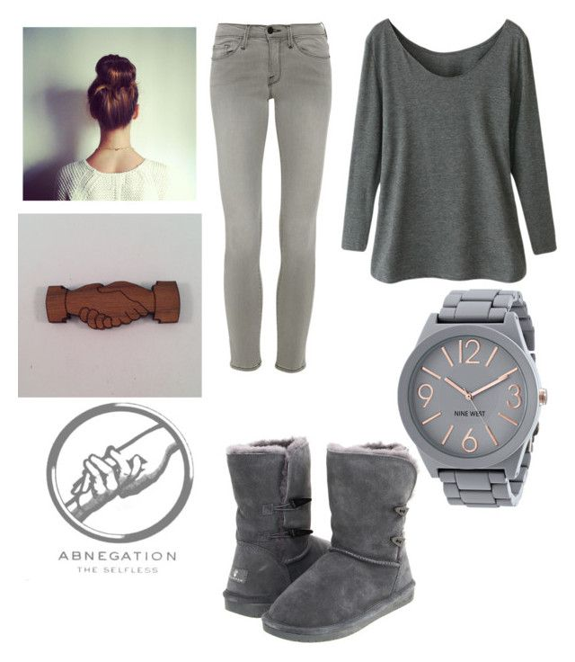 """""""Abnegation style"""" by jules293 ❤ liked on Polyvore featuring Frame Denim, Bearpaw and Nine West"""