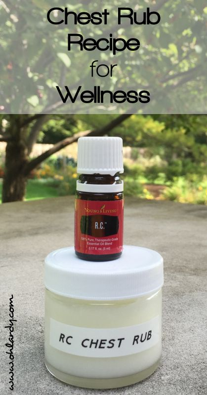 DIY Chest Rub Recipe for Wellness using Young Living Essential Oils - www.ohlardy.com