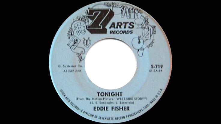 """1961 Eddie Fisher - Tonight (from """"West Side Story"""")"""