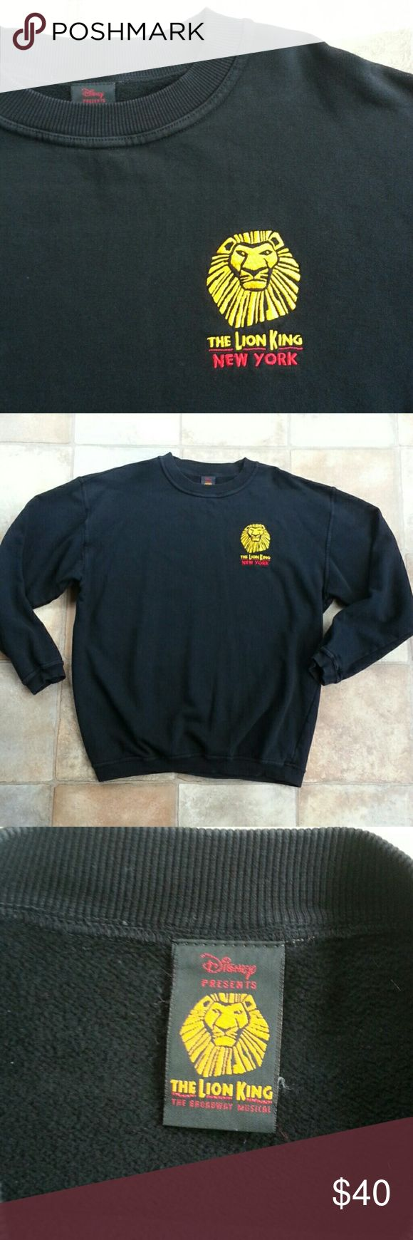 THE LION KING Broadway Sweatshirt Great condition but keep a lint brush on hand! Mens size but would be fine for a woman as well! Made in the USA! Bundle and save 15% Thanks for looking! Disney Shirts Sweatshirts & Hoodies