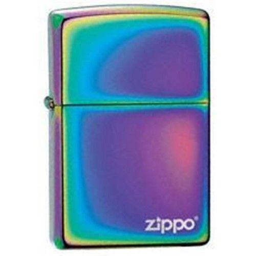 Zippo Spectrum Lighter with Logo, As Shown