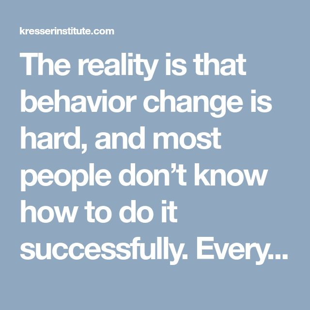 what ways does an individuals behaviour change Individual behavior in organization human behavior is complex and every individual is different from another, the challenge of an effective organization is in successfully matching the task, the manager and the subordinate.