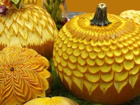 halloween pumpkin carvings, flowers
