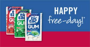 Get a FREE pack of Tic Tac Gum 1 oz at Stop & Shop, Giant Food, and Martin's Foods Stores.