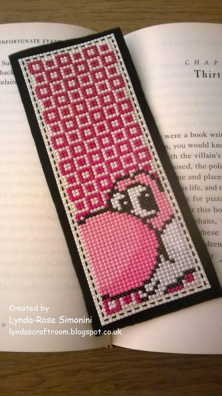 Pink Yoshi bookmark available at etsy.com/uk/shop/LyndasCraftRoom