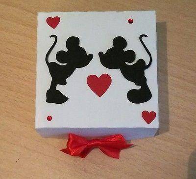2 scatole scatoline bomboniera porta confetti minnie topolino matrimonio nozze