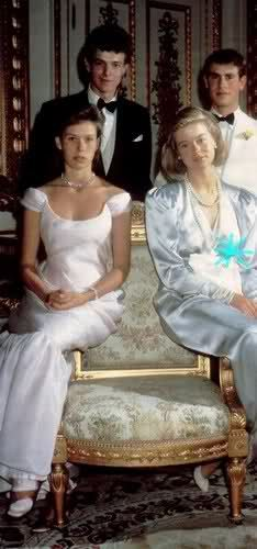 Royal Forums:  Birthday photo of the royal cousins-front-Lady Sarah Armstrong-Jones and Lady Helen Windsor; back-James Ogilvy and Prince Edward (I think this is their 21st birthday photo; they were all born in 1964 within a few months of each other:  James-February 29 (leap day), Edward-March 10, Helen-April 28, Sarah-May 1)