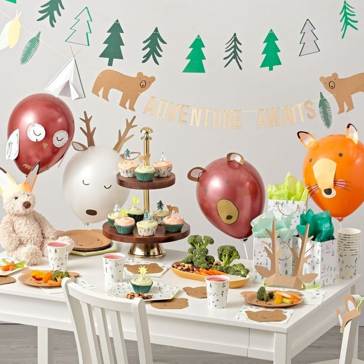 Shop Camping Birthday Party Decorations.  Adventurous kids will go wild for the Meri Meri Let's Explore Party Decorations.