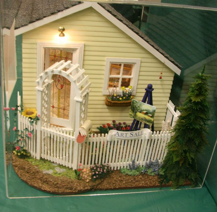 Dollhouse Miniatures Tutorials: Make Miniature Plants And Flowers For Dolls House And