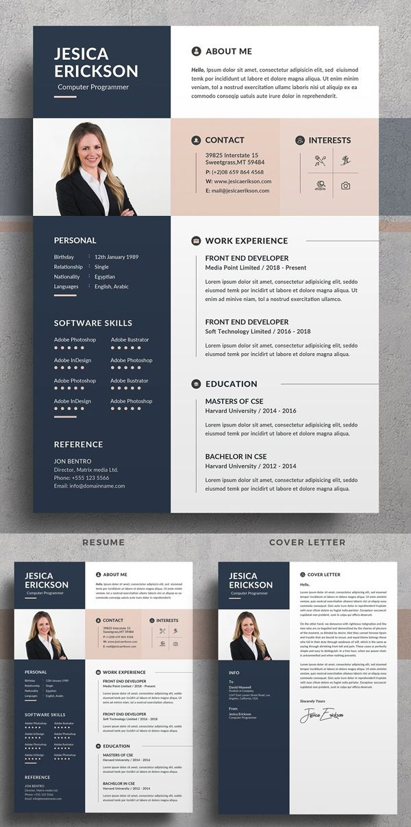 15.11.2018· cover letter is usually a single page letter which is mostly written to submit for job application or visa application. Professional Impressive Resume / CV Templates in 2020