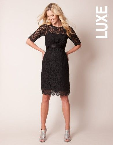 Maternity Cocktail Dress - Black Lace | Seraphine LUXE