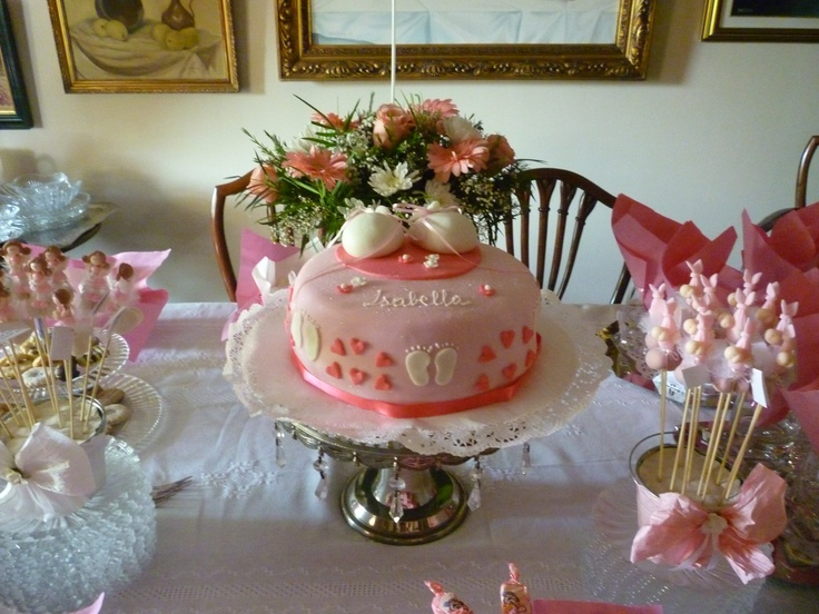 This was the table spread for my sisters baby shower in November 2011.