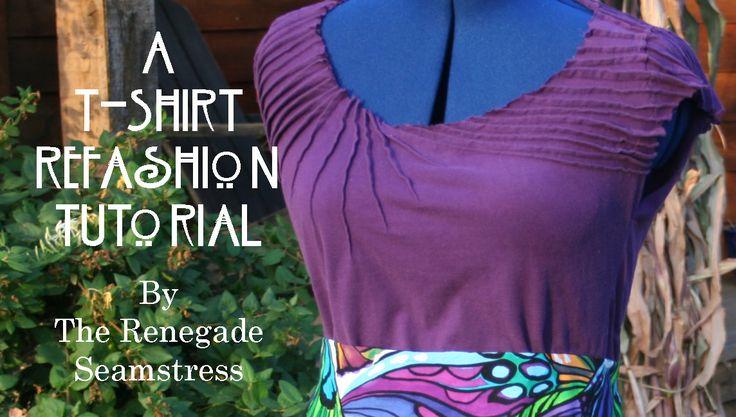 DIY: Art Nouveau Inspired T Shirt Refashion Tutorial | The Renegade Seamstress