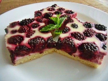 Ostružinový koláč s tvarohem **
