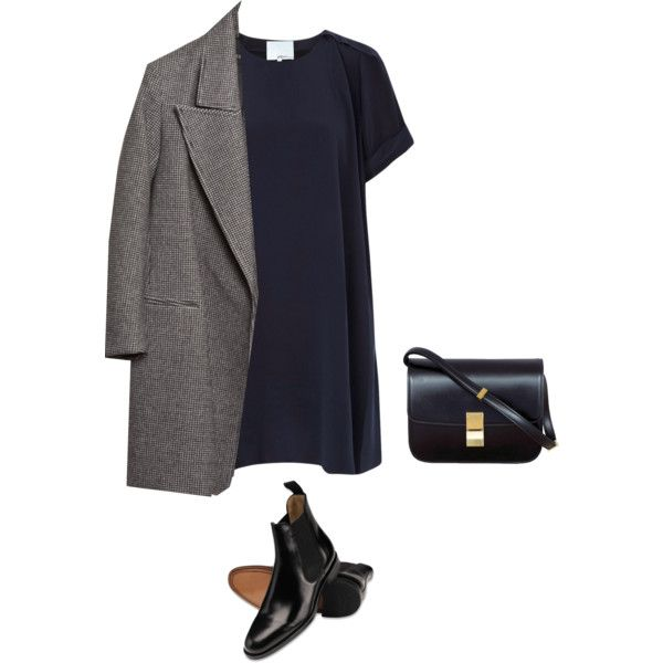 A fashion look from October 2014 featuring 3.1 Phillip Lim dresses ve CÉLINE handbags.