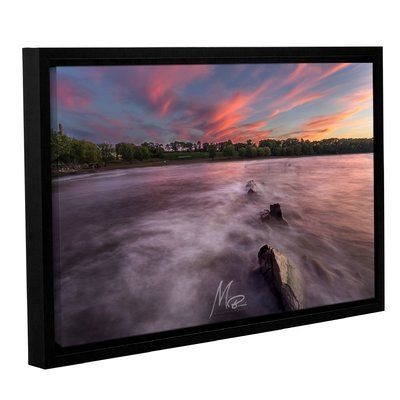 world menagerie cotton candy sky framed photographic print on canvas size 16