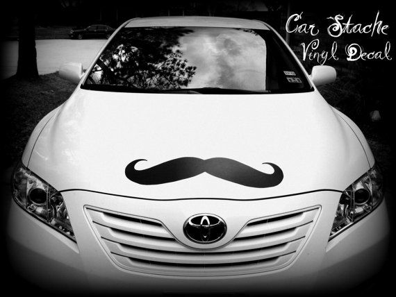 Giant Car Mustache Vinyl Decal - The HandlebarVinyls Decals, Giants Cars, Cars Decals, Mustaches Vinyls, Cars Mustaches, Mustaches Decals, Mustaches Cars, Mustaches Mania, Vinyl Decals