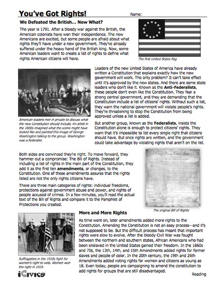 Printables Icivics Worksheets 1000 images about us government on pinterest reading worksheets this lesson youve got rights helps students learn the